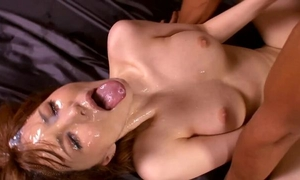 Thrilling bukkake XXX movie with beautiful Asian chick