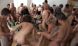 Beautiful czech angels giving a head at home party
