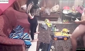 Spy camera records pair fucking in the living room. jav245