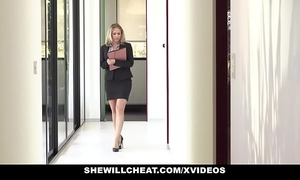 Shewillcheat - sexually excited real estate agent copulates bbc