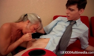 Stepmom bonks juvenile son on prom night and takes his virginity - leilani lei