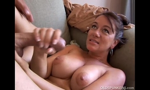 Kinky old spunker can't live without it when u cum in her face hole