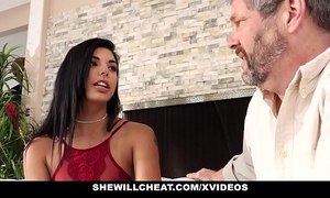 Shewillcheat- gina valentina bonks bbc whilst spouse watches