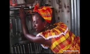 Ebony beauty bagheera is screwed by a hard white wang