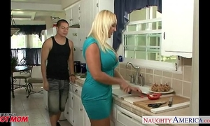 Chesty golden-haired mommy alexis golden take pecker