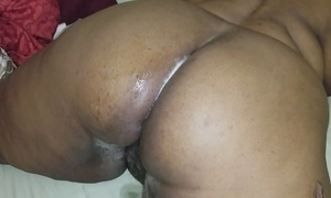 I had to fuck my aunts large overweight a-hole and cum on it