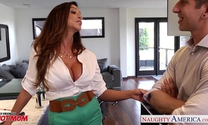 Busty mamma ariella ferrera receives screwed and facialized