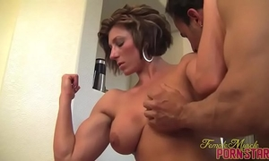 Female bodybuilder mistresse amazon receive worshiped