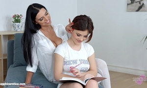 Passionate lesbo sex with kyra queen and veronica moore on sapphic erotica