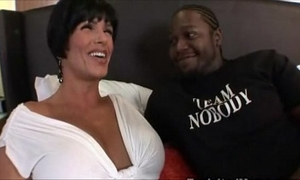 Busty large tit milf drilled by dark thug interracial video