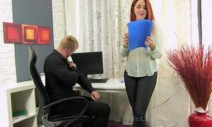 Secretary sucks the boss shlong for some cum