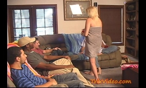 Cheating soccer mama acquires gang team-fucked