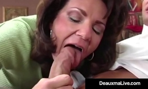 Busty cougar deauxma copulates the tax fellow in her abode! oho!