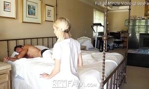 Spyfam step daughter piper perri fuck and creampie for stealing mamas fake penis