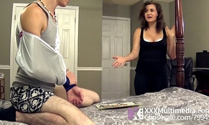 Mommy helps her stepson with a tugjob