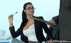 Sexy milf jasmine jae plays the office doxy addicted to hard pecker
