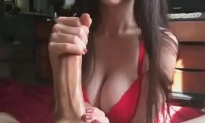 Bunnybutt handjob-cum on milk cans