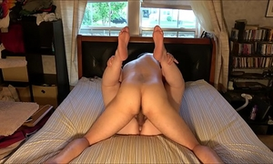 Extremely lewd dilettante pair screws and cums in sexy, homemade, creampie fashion: with window shades pulled aside, we fuck every other in the midst of the day and groan and yell out in absolute ecstasy