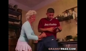 Granny solely desires anal